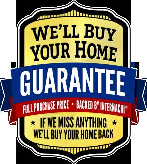 "InterNACHI ""We'll Buy Your Home"" Buyback Guarantee logo"